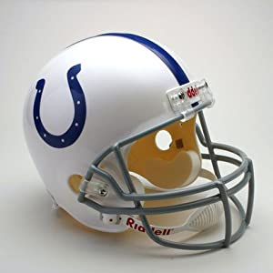 Indianapolis Colts Deluxe Replica Riddell Full Size Helmet by jlgsportsmemorabilia