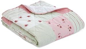 Dreams 'n' Drapes, Patchwork Tagesdecke für Doppelbett, rosa