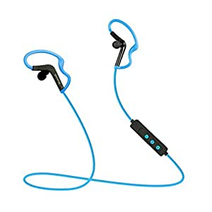 Flyingman Wireless Bluetooth Outdoor Sport Stereo Earphone with Microphone for Cellphone and Bluetooth Devices-Blue&Black