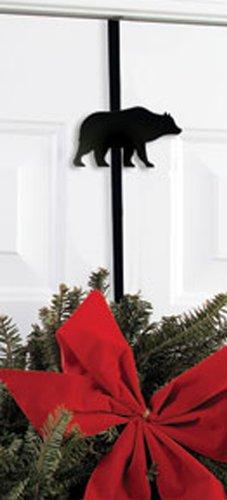 Iron Bear Christmas Hoiday Wreath Hanger - Winter Holiday Door Hook