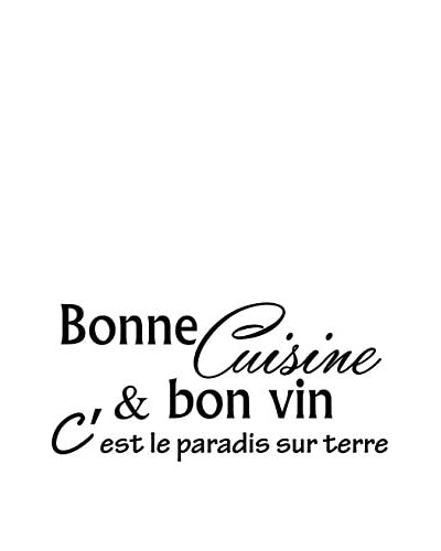 ZZ-Ambiance-sticker Vinilo Decorativo Kitchen French Quote Cuisine & Bon Vin…