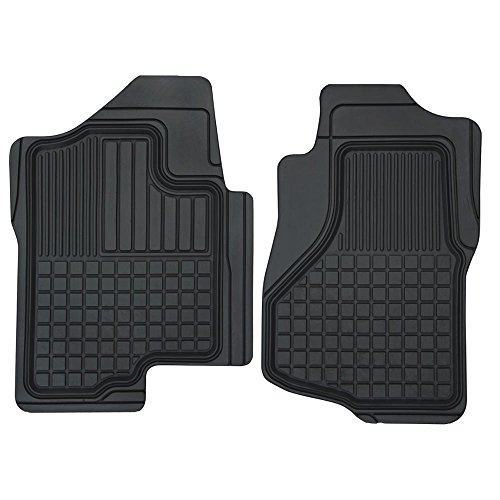 Motor Trend FlexTough Custom Liners Heavy Duty Rubber Floor Mats for Chevrolet Silverado 2007-2014 (2 Piece) (2008 Silverado Gas Pedal compare prices)