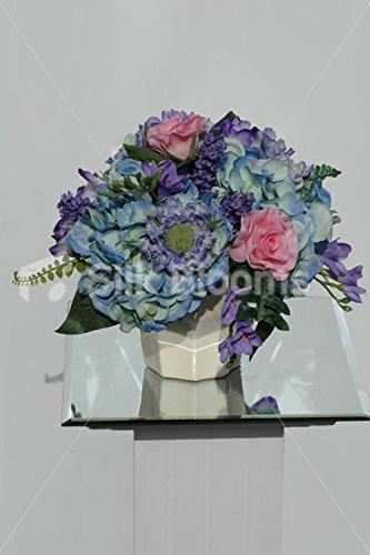Vase de mariage Motif Arrangement Floral avec Roses et de Freesia &Hortensia