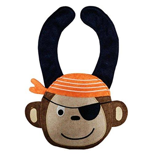 FEITONG bavaglini animali del bambino cartone animato saliva (scimmia)