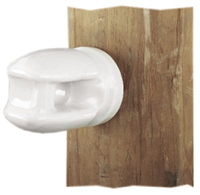 Dare Products 2799-25 Electric Fence Insulator, Line & Corner, Porcelain, Heavy-Duty - Quantity 25