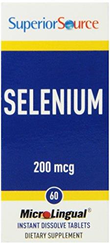 Superior Source Selenium Nutritional Supplements, 200 Mcg, 60 Count