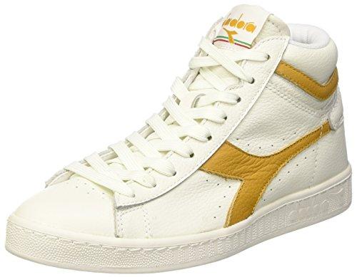 Diadora Game L High Waxed, Scarpe Low-Top Unisex Adulto, Bianco (Bianco/Beige Farro), 44 EU