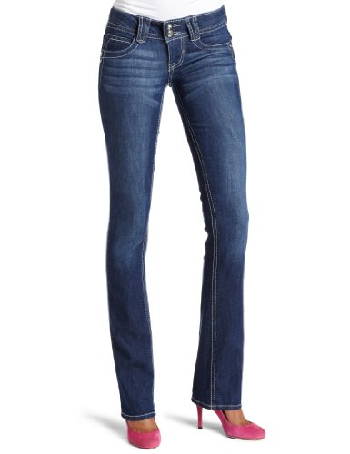 Jolt Juniors 33 Inch Flap Back Pocket Boot Cut Jean