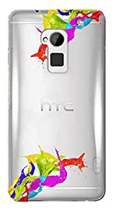 WOW Transparent Printed Back Cover Case For HTC One Max