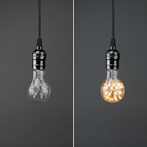 LIGHTSTORY Starry LED Bulb, E26 Base 2200K A19 Edison Decorative LED Light Bulbs, Non-Dimmable 3