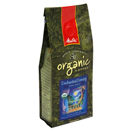 Melitta Fair Trade Organic Enchanted Evening Dark Roast Coffee, 10-Ounce Bags (Pack of 3)