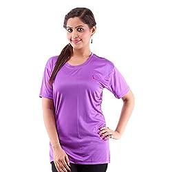 Miauw Women's T Shirt (BCA-208 _Purple_Medium)