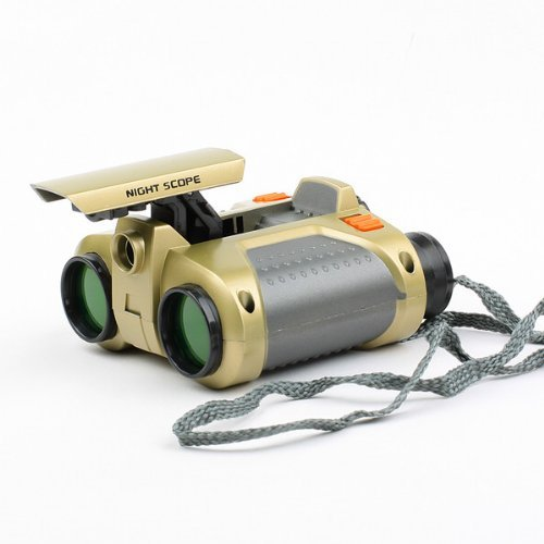 4x30mm Surveillance Binoculars Telescope with Pop-up Light