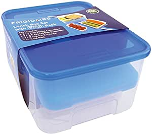 Frigidaire 6 piece lunch box set with cold pack 8 pieces for Decor 6 piece lunchbox