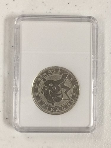 Nintendo Pokemon Trading Card Game Medalion Pikachu Silver Metal Coin Rare 2002 Wizards of the Coast 2000 in Mint Display Slab Case (removable) (Gameboy Advance Pokemon Card Game compare prices)