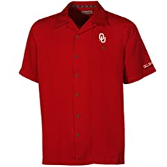 Oklahoma Sooners Mens Crimson Bermuda Camp Shirt by Chiliwear LLC