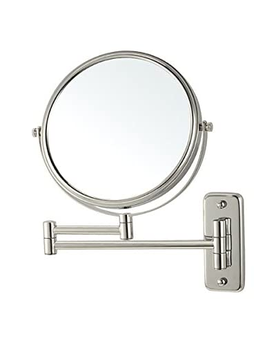 Nameeks Wall Mounted Double Sided 3X Makeup Mirror, Satin Nickel Finish