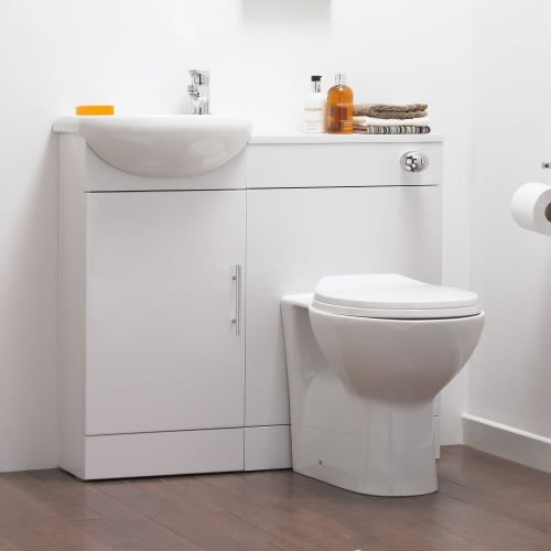 Sienna Vanity Unit and Toilet Cloakroom Pack