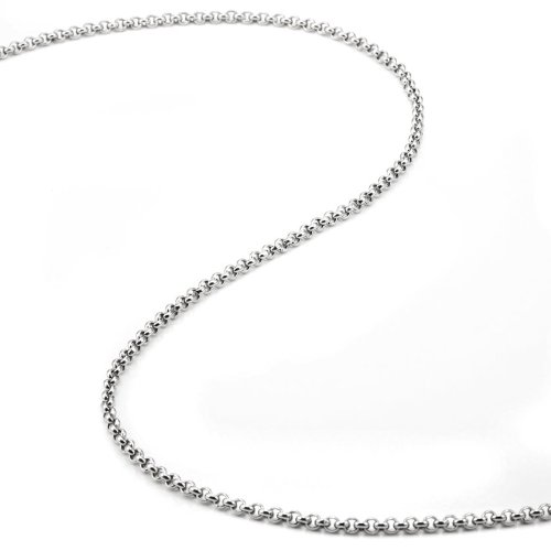 Ultimate Mens Stainless Steel Chain Necklace (3mm, 53cm, Silver)