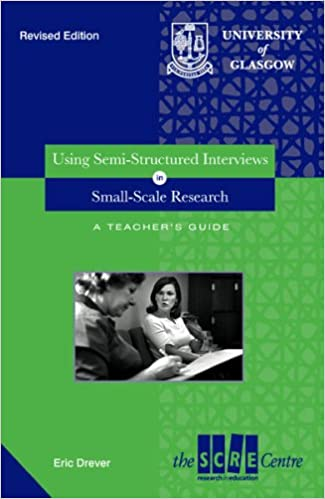 "Cover of ""Using semi-structured interviews in small-scale research : a teacher's guide"""