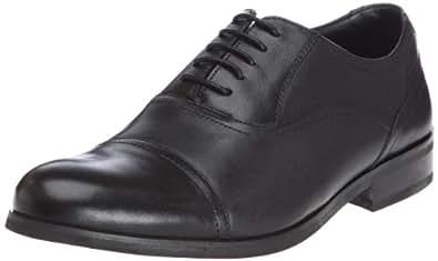 Clarks Brint Cap, Chaussures de ville homme - Noir (Black Leather), 47 EU (12 UK)