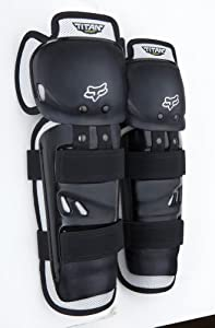 FOX TITAN SPORT KNEE/SHIN GUARD BLACK/SILVER