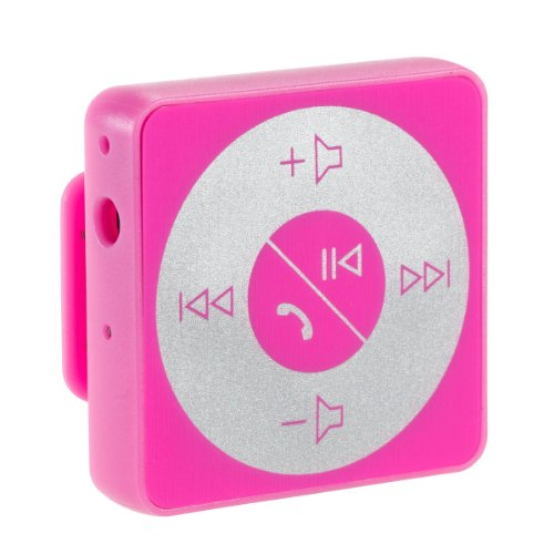 Abco Tech Bluetooth Hands-Free Calling & A2Dp Audio Streaming Adapter/Receiver For 3.5Mm Devices, Pink