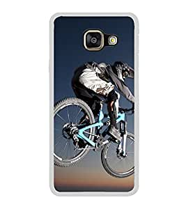 Cycling 2D Hard Polycarbonate Designer Back Case Cover for Samsung Galaxy A3 (2016) :: Samsung Galaxy A3 2016 Duos :: Samsung Galaxy A3 2016 A310F A310M A310Y :: Samsung Galaxy A3 A310 2016 Edition