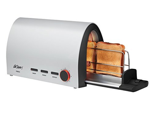 Toaster Plugged In ~ Arzum firrin toaster with sliding tray slice w