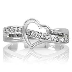 sterling silver cz promise ring co uk