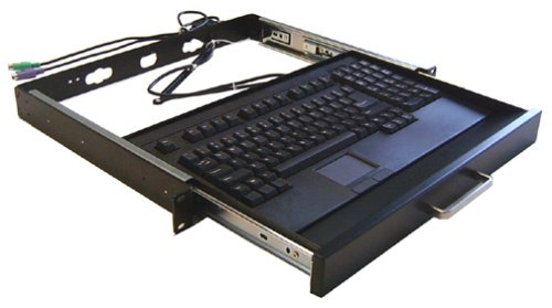 Adesso 19-Inch, 1U Rackmount Keyboard Drawer With Built-In Touchpad Ps/2 Keyboard (Ack-730Pb-Mrp)