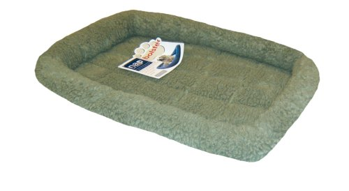 Nap Pet Bed Berber Bolster Pet Bed, Sage, 21-Inch By 30-Inch