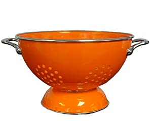 Calypso Basics 5 Quart powder coated Colander, Orange by Reston Lloyd