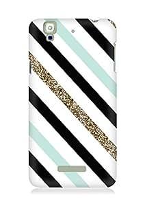 Amez designer printed 3d premium high quality back case cover for YU Yureka (Gilded stripes)