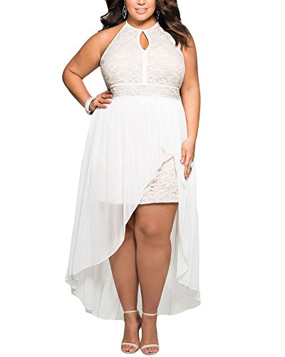 Lalagen-Womens-Plus-Size-Halter-White-Lace-Wedding-Party-Dress-Maxi-Dress