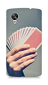 Amez designer printed 3d premium high quality back case cover for LG Nexus 5 (Playing Cards)