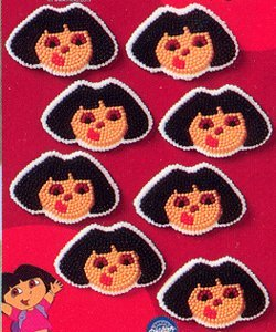 Dora the Explorer Icing Decorations 8ct