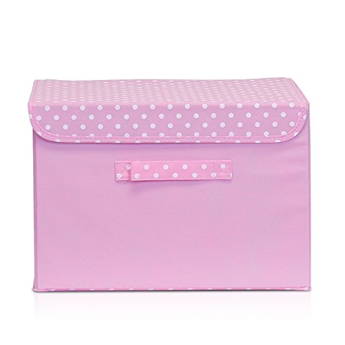 Furinno NW13203PK Non-Woven Fabric Soft Storage Organizer with Lid, Pink (Pink Storage compare prices)