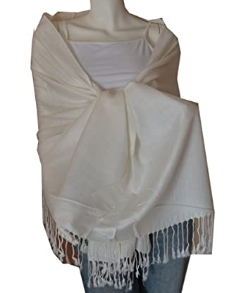 New Best Soft Pashmina Shawl Scarf Wrap Stole (Cream)