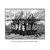 Grabado antiguo (1852) - Grabado al acero - Bailén.- El Último Cuadro Francés Roto Por Los Españoles En Este Lugar...