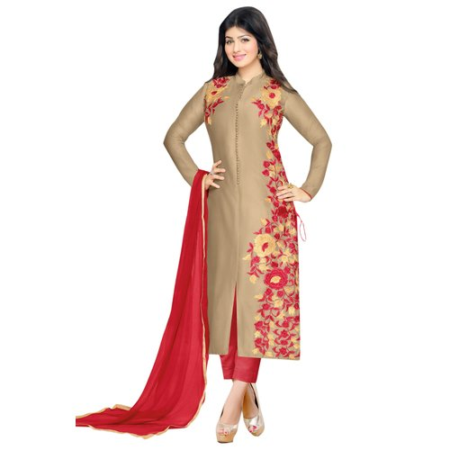 AnK Special Offer Embroidered Cotton Semi Stitched Salwar Suit With Duppta