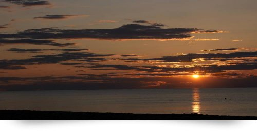 Sunset Over The Ocean (Giclee Art Print), Panoramic Images front-959575