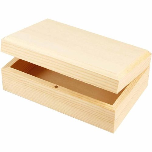 Wooden Jewellery Box Magnetic Catch Lift Up Lid Sold Exclusively by Amatola-Kei