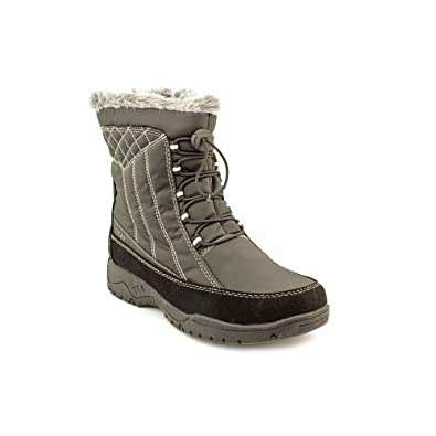 totes Women's Eve Winter Boots,Black,6 W US