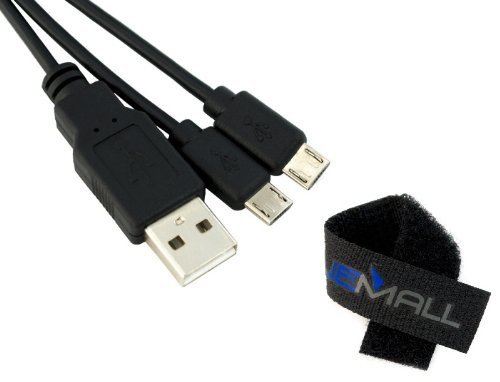 USB Charge Splitter Cable for Asus Nexus Google 7 inch Android Tablet