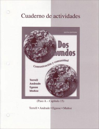 Dos Mundos: Cuaderno de actividades (Spanish Edition)