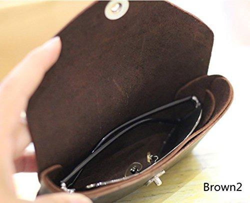 YAAGLE Genuine Leather Glasses Bag Case Soft Vintage Handmade 4