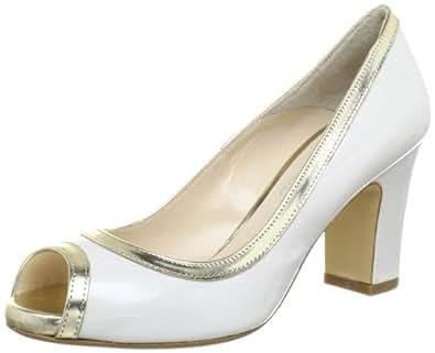 Evita Shoes Peeptoe 4112333161, Damen Pumps, Weiss (alpinweiß), EU 38