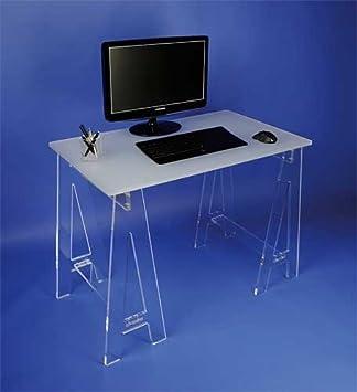 Petit bureau sur tréteaux