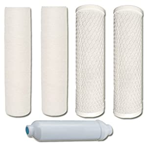 Watts 5-PK-4SV Premier 1-Year 4-Stage Reverse Osmosis Replacement Filter Kit, 5-Pack